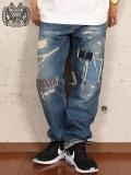 "DUPPIES (ダッピーズ) ""TRAVEL STAR / CRASH DENIM PANTS-REGULAR"""