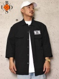"""BUDS(バッズ) """"RECTANGLE WAPPEN EASY SHIRT"""""""